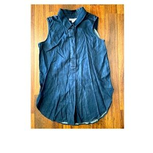 Liz Claiborne Denim Tunic Top